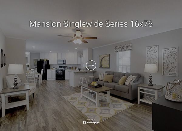 Mansion Singlewide Series 16x76 Model Home
