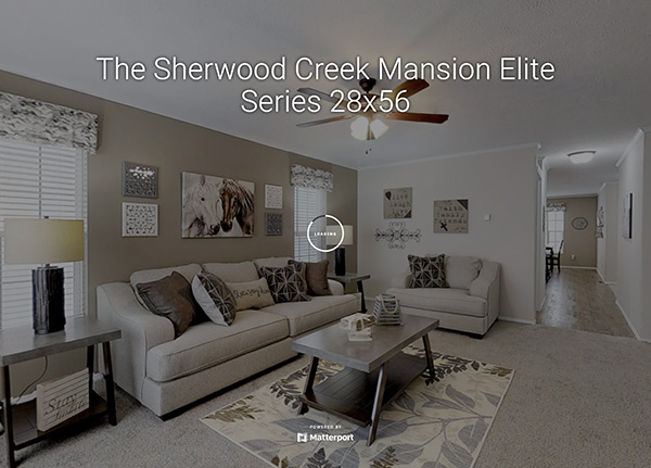 The Sherwood Creek Mansion Elite Series 28x56 Model Home
